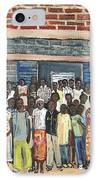 School Class Burkina Faso Series IPhone Case by Reb Frost