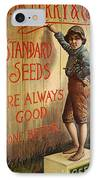 Seed Company Poster, C1890 IPhone Case by Granger