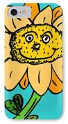 Senny The Sunflower IPhone Case by Jera Sky