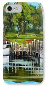 Shrimping Boats IPhone Case by Dianne Parks