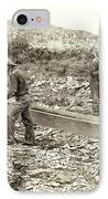 Sluice Box Placer Gold Mining C. 1889 IPhone Case by Daniel Hagerman