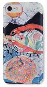 Snail With Red Efts IPhone Case by Carol  Law Conklin