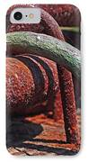 Snaking Rust  IPhone Case by Rona Black