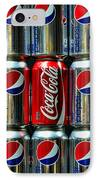 Soda - Coke Vs. Pepsi IPhone Case by Paul Ward