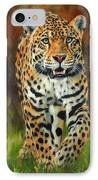 South American Jaguar IPhone Case by David Stribbling