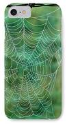 Spider Web In The Springtime IPhone Case by Douglas Barnett