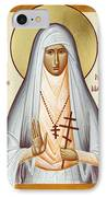 St Elizabeth The New Martyr IPhone Case by Julia Bridget Hayes