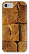Stack Of Logs IPhone Case by David Chapman