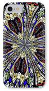 Stained Glass Kaleidoscope 38 IPhone Case by Rose Santuci-Sofranko