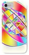 Steampunk Gyroscopic Rainbow IPhone Case by Michael Skinner