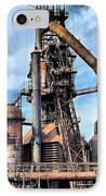 Steel Stacks Bethlehem Pa. IPhone Case by DJ Florek