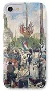 Study For Le 14 Juillet 1880 IPhone Case by Alfred Roll