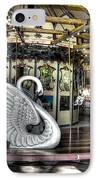 Swan Seat At The Carousel  IPhone Case by Michael Garyet