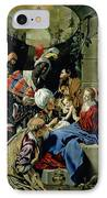 The Adoration Of The Kings IPhone Case by Fray Juan Batista Maino