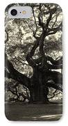 The Angel Oak IPhone Case by Susanne Van Hulst