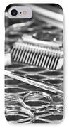 The Barber Shop 10 Bw IPhone Case by Angelina Vick