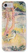 The Beach At St Clair IPhone Case by Henri-Edmond Cross