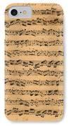 The Brandenburger Concertos IPhone Case by Johann Sebastian Bach