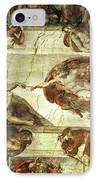 The Creation Of Adam IPhone Case by Michelangelo