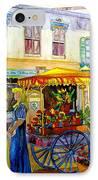 The Flowercart IPhone Case by Carole Spandau