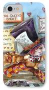 The Mad Hatter - In Court IPhone Case by Lucia Stewart