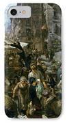 The Market Of Verona IPhone Case by Adolph Friedrich Erdmann von Menzel