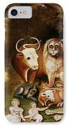 The Peaceable Kingdom IPhone Case by Edward Hicks