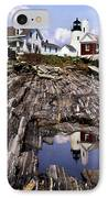 The Reflection At Pemaquid IPhone Case by Skip Willits