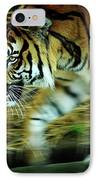 Tiger Burning Bright IPhone Case by Rebecca Sherman