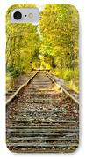Track To Nowhere IPhone Case by Greg Fortier