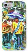 Treme Brass Band IPhone Case by Dianne Parks