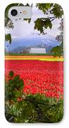 Tulips Secret Window IPhone Case by Louise Magno