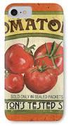 Veggie Seed Pack 3 IPhone Case by Debbie DeWitt