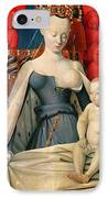 Virgin And Child Surrounded By Angels IPhone Case by Jean Fouquet