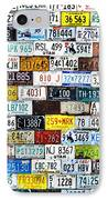 Wall Of American License Plates IPhone Case by Christine Till