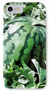 Waterelons In A Vegetable Garden IPhone Case by Lanjee Chee