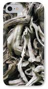 Weathered Roots - Sitka Spruce Tree Hoh Rain Forest Olympic National Park Wa IPhone Case by Christine Till