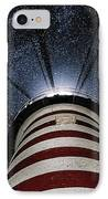 West Quoddy Head Lighthouse Night Light IPhone Case by Marty Saccone