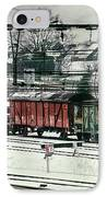 Winter Transport IPhone Case by Wim Lanclus