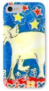 Yellow Elephant Facing Left IPhone Case by Sushila Burgess