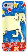 Yellow Elephant Facing Right IPhone Case by Sushila Burgess