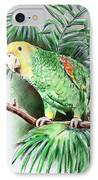 Yellow-headed Amazon Parrot IPhone Case by Arline Wagner