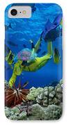 Yellow Scuba Diver IPhone Case by Ed Robinson - Printscapes