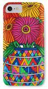 Zinnia Fiesta IPhone Case by Lisa  Lorenz