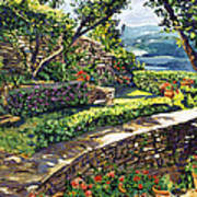 Garden Stairway Poster by David Lloyd Glover