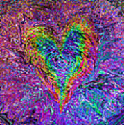 Love From The Ripple Of Thought  V 5  Poster by Kenneth James