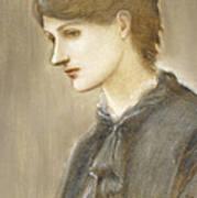 Portrait Of Mrs William J Stillman Nee Marie Spartali Poster by Sir Edward Coley Burne Jones
