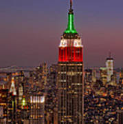 Top Of The Rock Poster by Susan Candelario