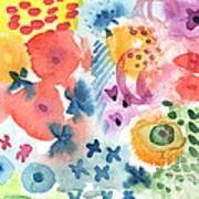 Watercolor Garden Poster by Linda Woods