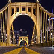 0304 Roberto Clemente Bridge Pittsburgh Poster by Steve Sturgill